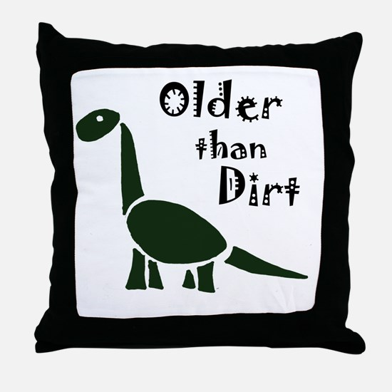 Cute Old age Throw Pillow