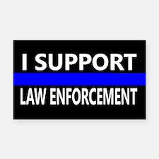 I Support Law Enforcement Rectangle Car Magnet