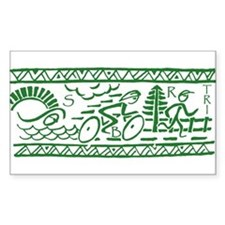 GREEN TRI-BAND Rectangle Decal