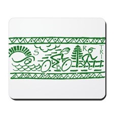 GREEN TRI-BAND Mousepad