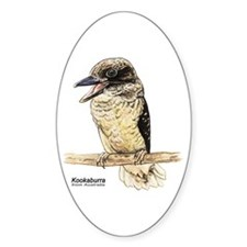 Kookaburra Australian Bird Oval Decal