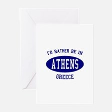 I'd Rather Be in Athens, Gree Greeting Cards (Pk o