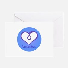 Violet Heart Remember Greeting Card