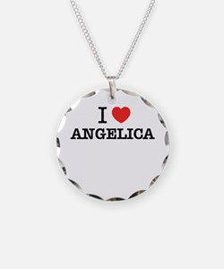 I Love ANGELICA Necklace Circle Charm