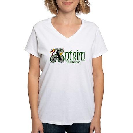 County Antrim Women's V-Neck T-Shirt