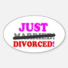 JUST MARRIED - DIVORCED! - Decal