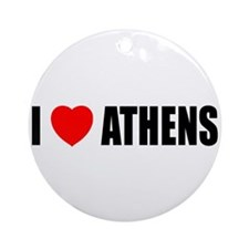 I Love Athens, Greece Ornament (Round)