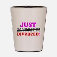 JUST MARRIED - DIVORCED! - Shot Glass