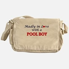 Madly in love with a Pool Boy Messenger Bag
