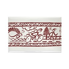 RED TRI-BAND Rectangle Magnet (10 pack)