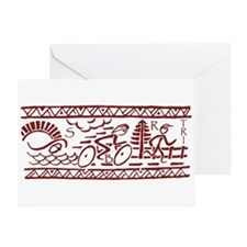 RED TRI-BAND Greeting Card