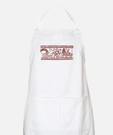 RED TRI-BAND BBQ Apron