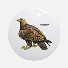 Golden Eagle Bird Keepsake (Round)