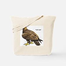 Golden Eagle Bird Tote Bag