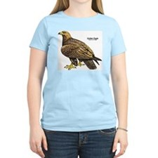 Golden Eagle Bird Women's Pink T-Shirt