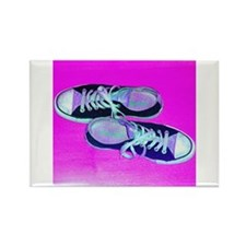 Ultra Pink Sneaks Rectangle Magnet