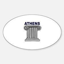 Athens, Greece Oval Decal