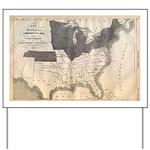 1861 Map Yard Sign