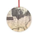1861 Map Ornament (Round)
