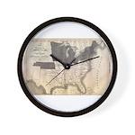 1861 Map Wall Clock