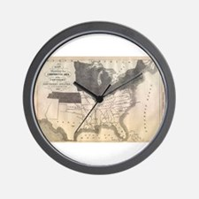 1861 Map Wall Clock