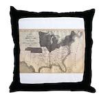 1861 Map Throw Pillow