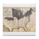 1861 Map Tile Coaster