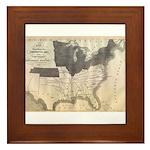 1861 Map Framed Tile