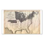 1861 Map Rectangle Sticker