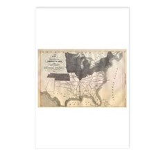 1861 Map Postcards (Package of 8)
