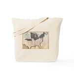 1861 Map Tote Bag