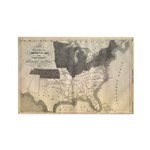 1861 Map Rectangle Magnet (10 pack)