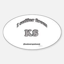 Keeshond Syndrome2 Oval Decal