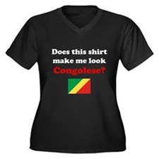 Make Me Look Congolese Women's Plus Size V-Neck Da