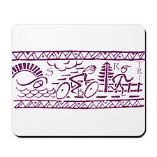 PURPLE TRI-BAND Mousepad