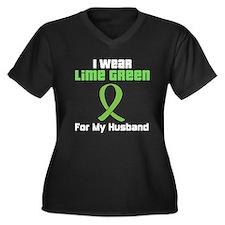 Lymphoma (Husband) Women's Plus Size V-Neck Dark T