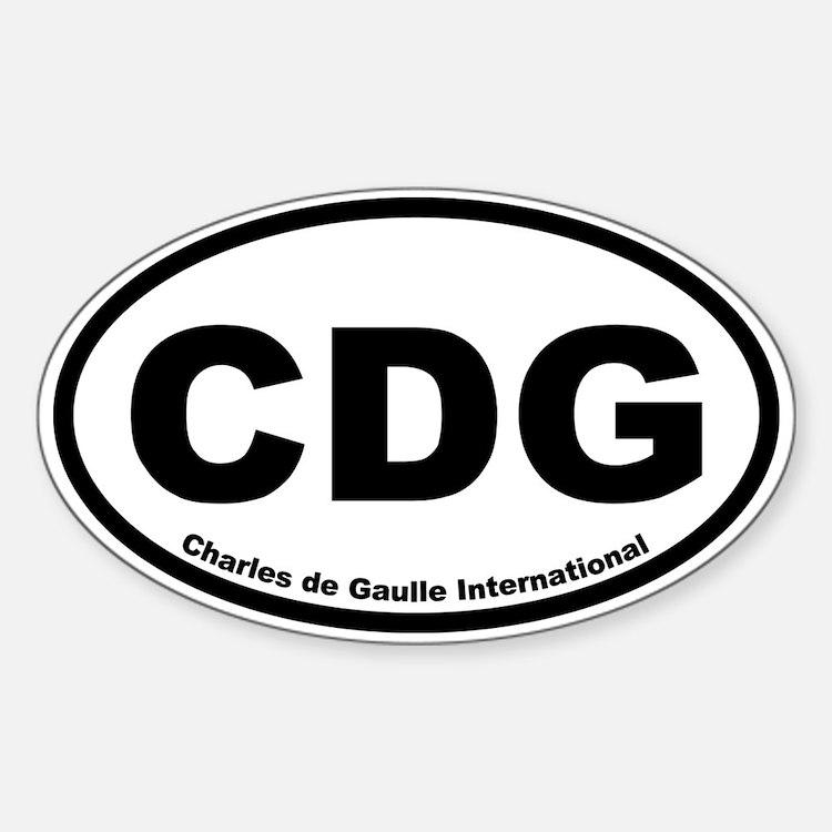 Charles de Gaulle International Oval Decal