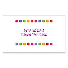 Grandpa's Little Princess Rectangle Bumper Stickers