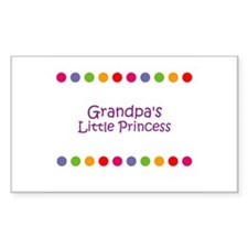 Grandpa's Little Princess Rectangle Decal