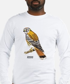American Kestrel Bird (Front) Long Sleeve T-Shirt