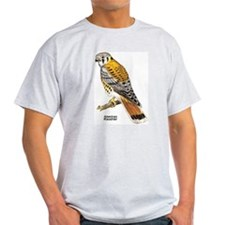 American Kestrel Bird Ash Grey T-Shirt