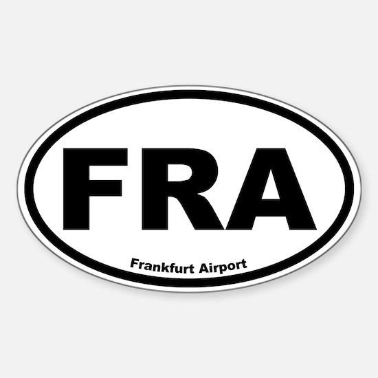Frankfurt Airport Oval Decal