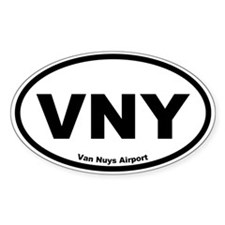 Van Nuys Airport Oval Decal