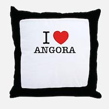 I Love ANGORA Throw Pillow