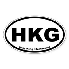 Hong Kong International Oval Decal