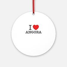I Love ANGORA Round Ornament