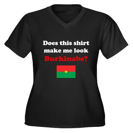 Make Me Look Burkinabe Women's Plus Size V-Neck Da