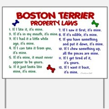 Boston Terrier Property Laws 2 Yard Sign