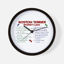 Boston Terrier Property Laws 2 Wall Clock