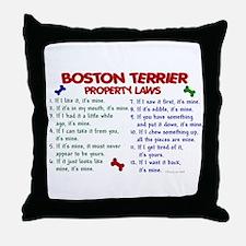 Boston Terrier Property Laws 2 Throw Pillow